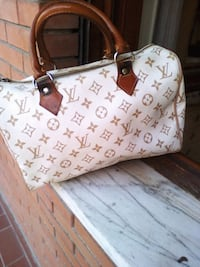 Tote bag in pelle Louis Vuitton bianca e marrone Roma, 00172