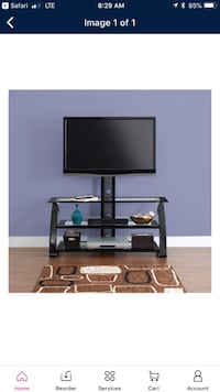Used glass tv stand great condition all bolts included 160.00 new make offer  Belpre, 45714