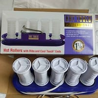 """Hot Rollers - set of 6 - 1 1/4"""" - NEW"""