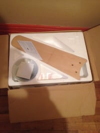 Brown wood blade ceiling fan in box New York, 11206