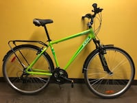 New Bike CCM Velocity 19'' Aluminum frame 21 speed Shimano Fork with suspension equipped with rear rack, mud fenders, kickstand, derailleur protection, reflectors  ideal for a person 5.8''-6.1''  price 250$  Mont-Royal, H3R 1G7