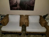 white and brown leather sofa chair Katy, 77449