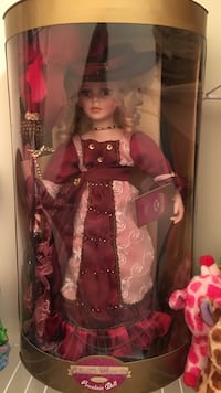Pink and red floral Porcelain doll in box Pembroke, 31321