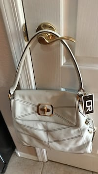 white leather shoulder bag OR by Oryany NWT