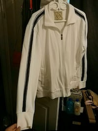 Men's long Surf white sweater XXL with blue strip. Toronto, M6H 4B5