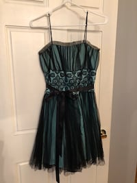 Turquoise/ black formal dress - XS Vaughan, L4L 1A5