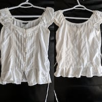 White on or off-the-shoulder blouse size small