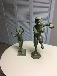 Two bronze statues. Pan and Dancing Fuan Columbia, 29210