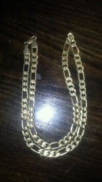 Fake gold chain link necklace