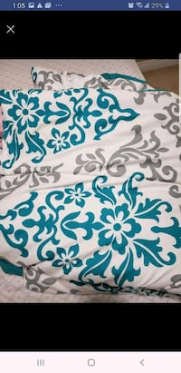 white and blue floral textile Surrey, V3W 3T3