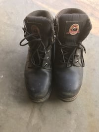 pair of black leather work boots Fresno, 93722