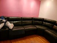 Genuine Leather Black Sectional Baltimore
