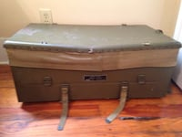 Metal and canvas army trunk Baton Rouge, 70806