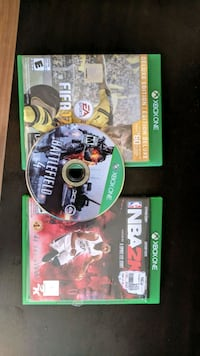 3 Xbox One games in MINT condition for CAD 30 Ottawa, K2L 4B6