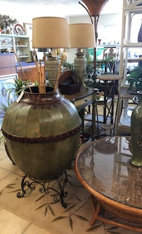 Large Metal Vase on stand  Cape Coral, 33904