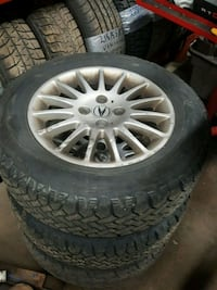 15 inch acura rims and tired  Mississauga