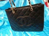black leather Chanel tote bag Los Angeles, 91402