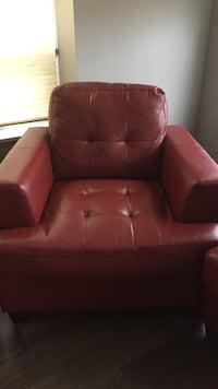 red leather sofa chair with ottoman Toronto, M2N