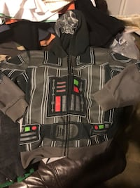 Black and gray starwars jacket size 7 Carson, 90745