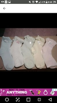 Sweet Socks  New/Packaged  $3.50 Ea  Size Age 3-4 Victoria, V8T