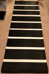 Black and white stripe print runner rug Germantown, 20874