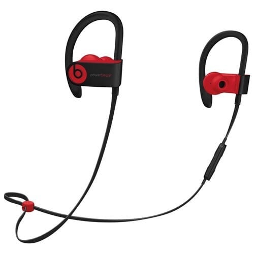 Black and red  PowerBeats 3 by dr