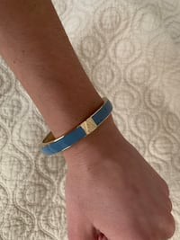 "Periwinkle bangle with ""A"" on it  Chicago, 60622"