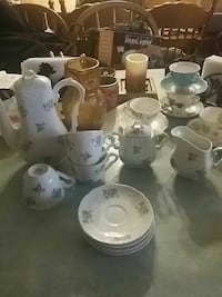 white floral ceramic tea cups and pots Franklin, 02038