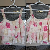 Floral short crop top size extra small/ small