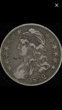 Very Fine 1832 Silver Capped Bust Half Dollar-- High Grade-- Very Strong Details! Reston, 20191