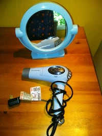 mirror and dryer