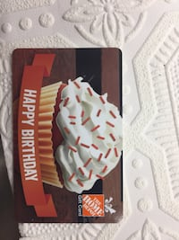 The Home Depot Happy Birthday gift card