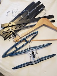 pant hangers: hang with these pant hanger clips and sturdy hangers