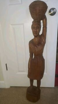 3 Ft Tall Authentic African Carved Statue Washington, 20032