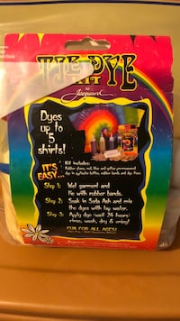 Tye Dye Kit! This is a double kit everything from rubber bands to gloves to instructions are here!  West Babylon, 11704
