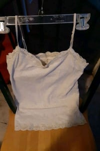 WHITETANK TOP WITH BUILT IN BRA SIZE LARGE BY EROPOSTALE STRETCH  Clearwater, 33764