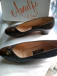 pair of black leather flats Seaside, 93955