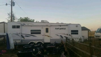 2005 Keystone Tail-gator toy hauler in good cond. trades considered