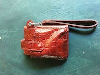 red leather wristlet,,, 154 mi