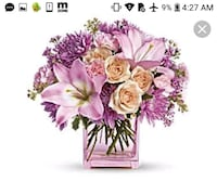 pink and white flowers with good morning text overlay Houston, 77062