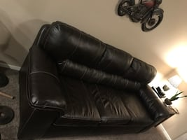 Leather couch, bought it new last year