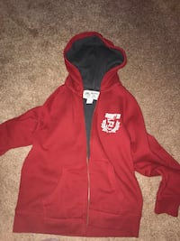 Red and black roots zip-up hoodie Hamilton, L8J 2N8