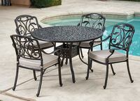 "Cast Aluminum 48"" Patio Dining Table LAKEFOREST"