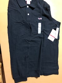 Long sleeve polo black, Fox, large, new with tag Great Falls, 22066