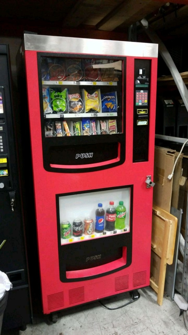 As is blowout sale firm price combo vending machin