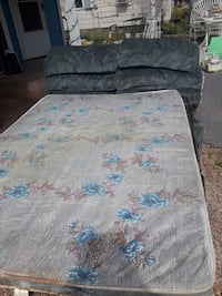 gray and blue floral mattress San Angelo, 76903