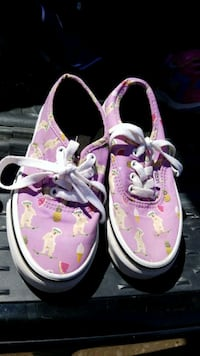 toddler's pink-and-white sneakers Odessa