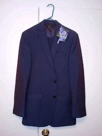 Plum calvin Klein suit jacket and pants brand new only worn twice jack