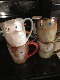 Four owl coffee mugs Clarksville, 37043