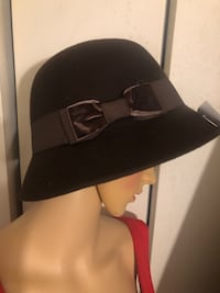 1920s style hat brown with velvet bow Alexandria, 22306